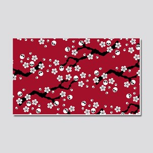 Gothic Cherry Blossoms Pattern Car Magnet 20 x 12