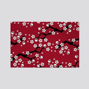 Gothic Cherry Blossoms Pattern Magnets