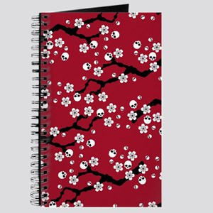 Gothic Cherry Blossoms Pattern Journal