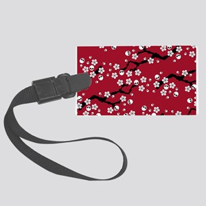 Gothic Cherry Blossoms Pattern Luggage Tag