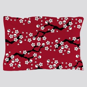 Gothic Cherry Blossoms Pattern Pillow Case