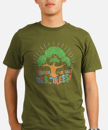 Thanks, Trees! Organic Men's T-Shirt (dark)