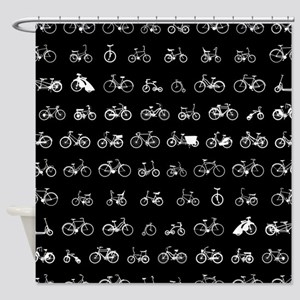 Bicycles Pattern Shower Curtain