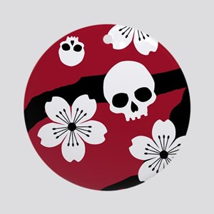 Gothic Cherry Blossoms Ornament (Round)