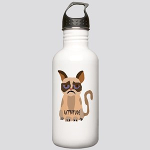 Funny Grouchy Cat with Stainless Water Bottle 1.0L