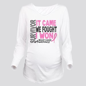 Breast Cancer Surviv Long Sleeve Maternity T-Shirt