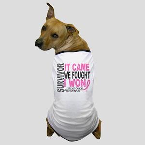 Breast Cancer Survivor 2 Dog T-Shirt