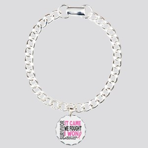 Breast Cancer Survivor 2 Charm Bracelet, One Charm