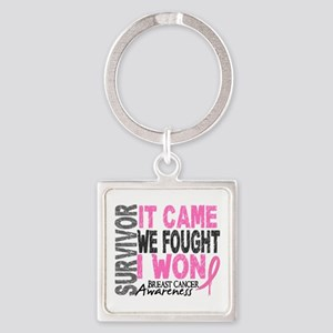 Breast Cancer Survivor 2 Square Keychain