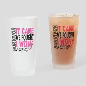 Breast Cancer Survivor 2 Drinking Glass