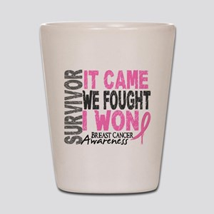 Breast Cancer Survivor 2 Shot Glass