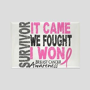 Breast Cancer Survivor 2 Rectangle Magnet
