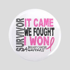 """Breast Cancer Survivor 2 3.5"""" Button"""