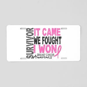 Breast Cancer Survivor 2 Aluminum License Plate