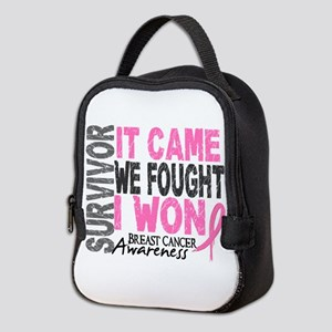 Breast Cancer Survivor 2 Neoprene Lunch Bag