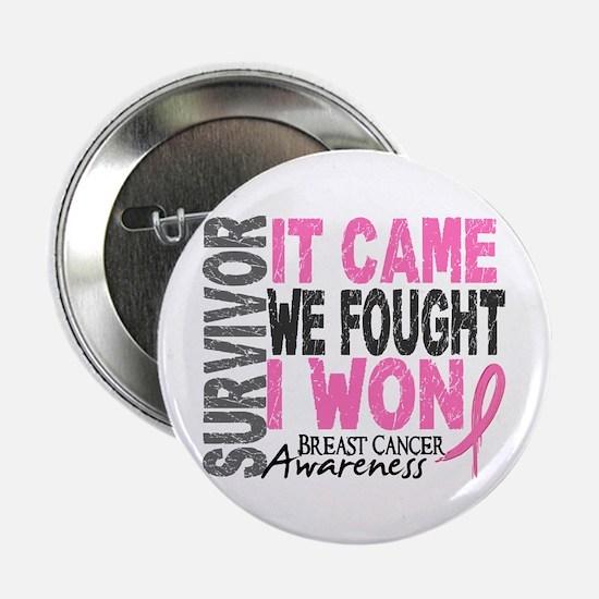 """Breast Cancer Survivor 2 2.25"""" Button (100 pack)"""
