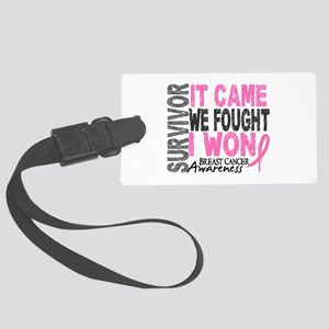 Breast Cancer Survivor 2 Large Luggage Tag