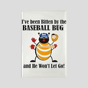 Baseball Bug Rectangle Magnet
