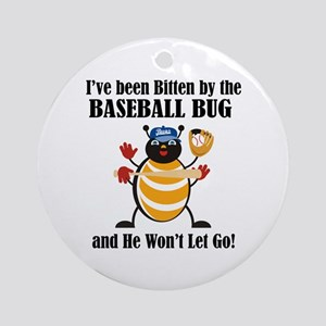 Baseball Bug Ornament (Round)