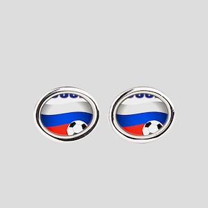 Russia soccer Oval Cufflinks
