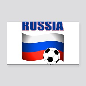 Russia soccer Rectangle Car Magnet