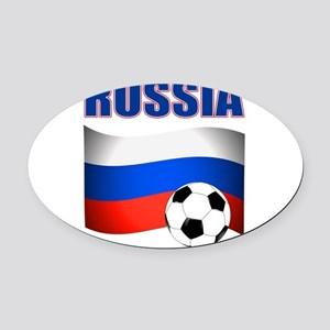 Russia soccer Oval Car Magnet