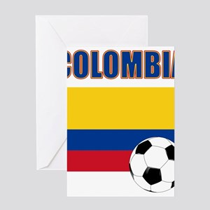Colombia futbol soccer Greeting Cards