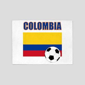 Colombia futbol soccer 5'x7'Area Rug