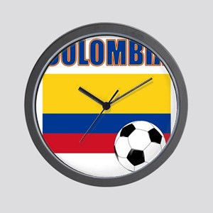 Colombia futbol soccer Wall Clock
