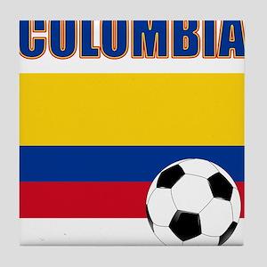 Colombia futbol soccer Tile Coaster
