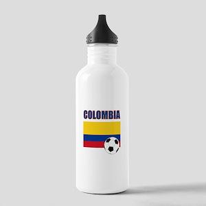 Colombia futbol soccer Water Bottle