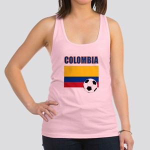 Colombia futbol soccer Racerback Tank Top
