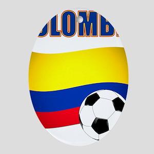 Colombia futbol soccer Ornament (Oval)