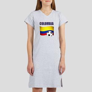 Colombia futbol soccer Women's Nightshirt