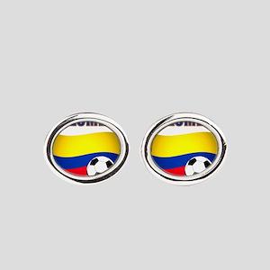 Colombia futbol soccer Oval Cufflinks