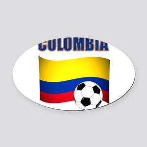 Colombia futbol soccer Oval Car Magnet