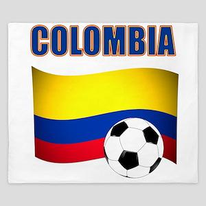 Colombia futbol soccer King Duvet