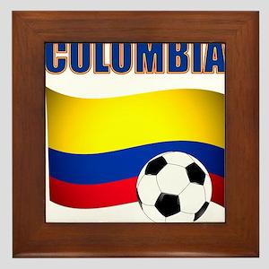 Colombia futbol soccer Framed Tile