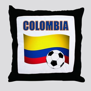 Colombia futbol soccer Throw Pillow