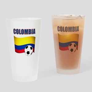 Colombia futbol soccer Drinking Glass