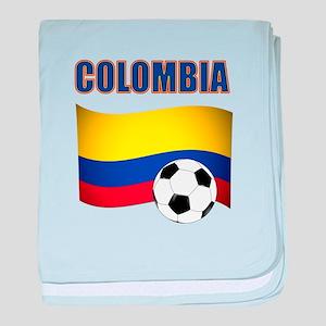 Colombia futbol soccer baby blanket