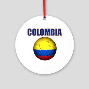 Colombia futbol soccer Ornament (Round)