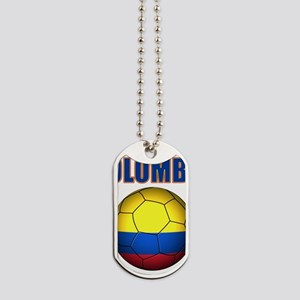 Colombia futbol soccer Dog Tags