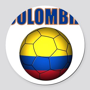 Colombia futbol soccer Round Car Magnet