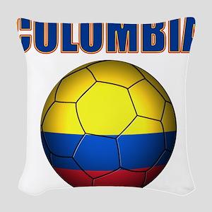 Colombia futbol soccer Woven Throw Pillow