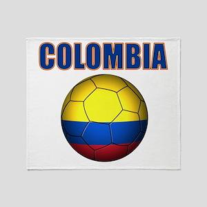 Colombia futbol soccer Throw Blanket