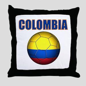 Colombia futbol soccer Throw Pillow