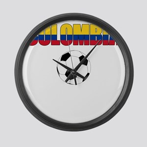 Colombia futbol soccer Large Wall Clock