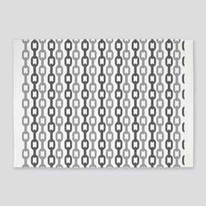 Linked Chain pattern design 5'x7'Area Rug