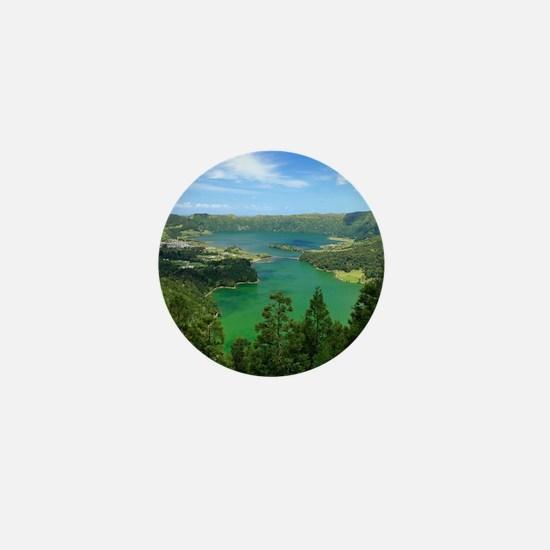 Sete Cidades lakes Mini Button